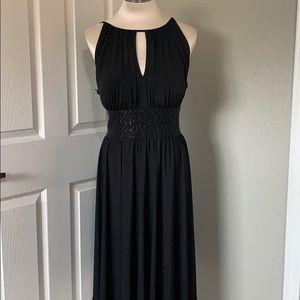 Halter Style Beaded Detail Formal Dress